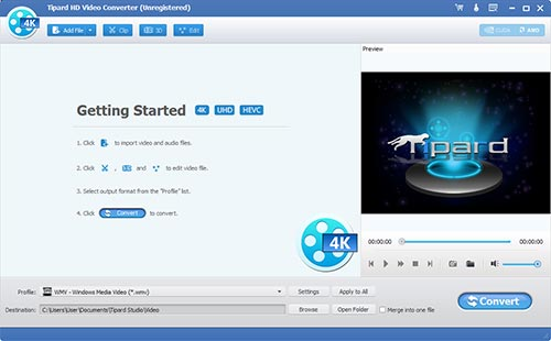 Tipard HD Video Converter Screen shot
