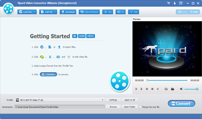 Φορτώστε το αρχείο βίντεο HD