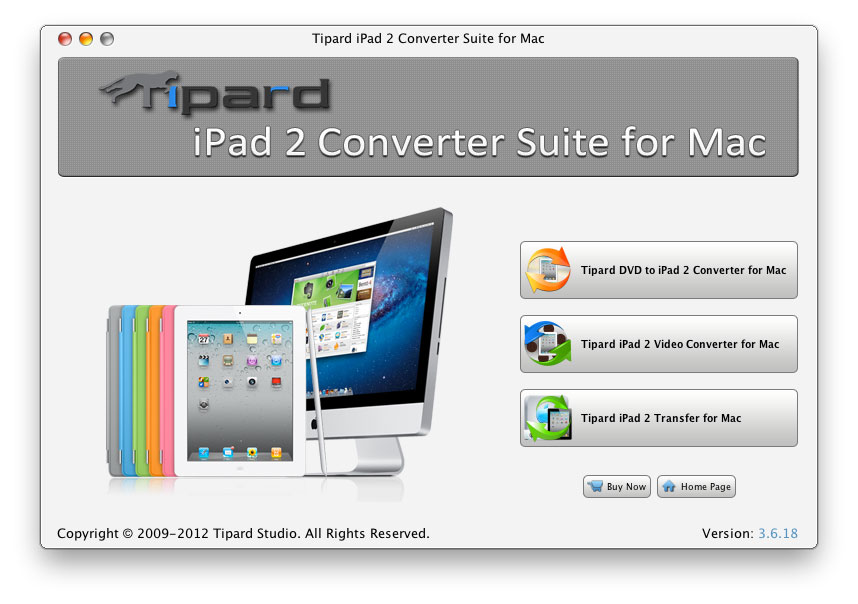 Tipard iPad 2 Converter Suite for Mac Screen shot