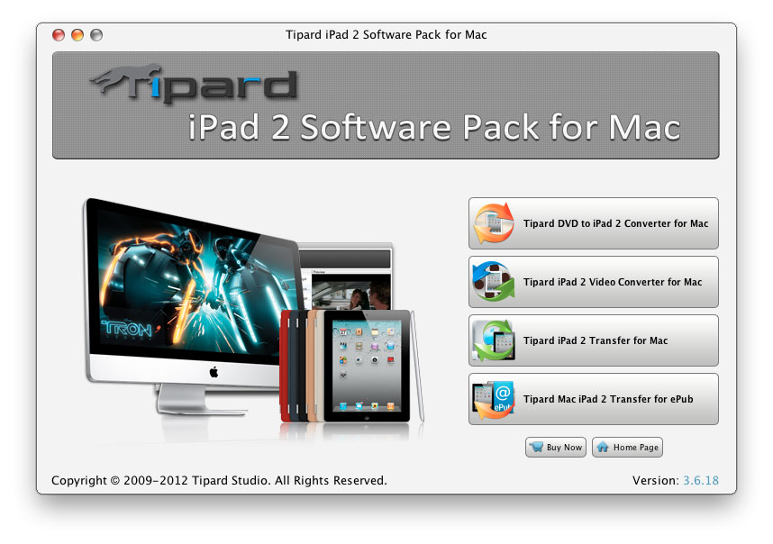Tipard iPad 2 Software Pack for Mac Screen shot