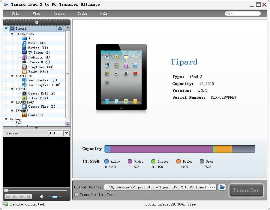 Tipard iPad 2 to PC Transfer Ultimate