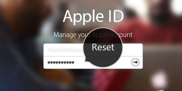 redefinir a senha do ID da Apple
