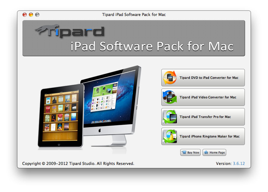 Tipard iPad Software Pack for Mac Screen shot
