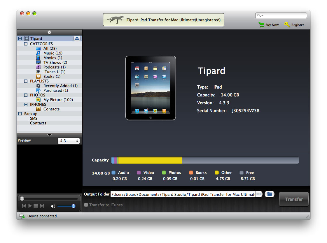 Transfer iPad multiple files to Mac/iTunes.