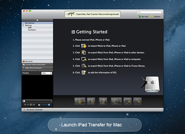 Transfer files between Mac and iPad.