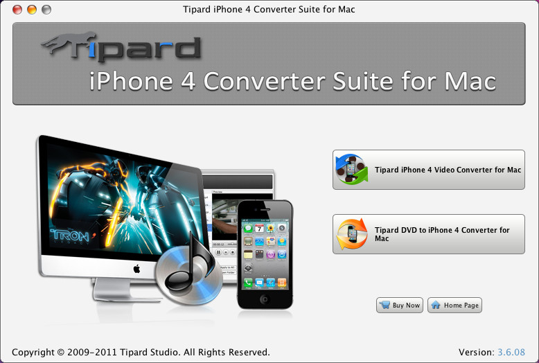 Tipard iPhone 4G Converter Suite for Mac Screen shot