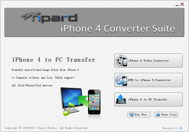 Tipard iPhone 4G Converter Suite Screen shot