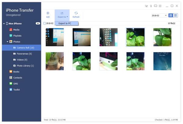 Transférer des images iPhone 4