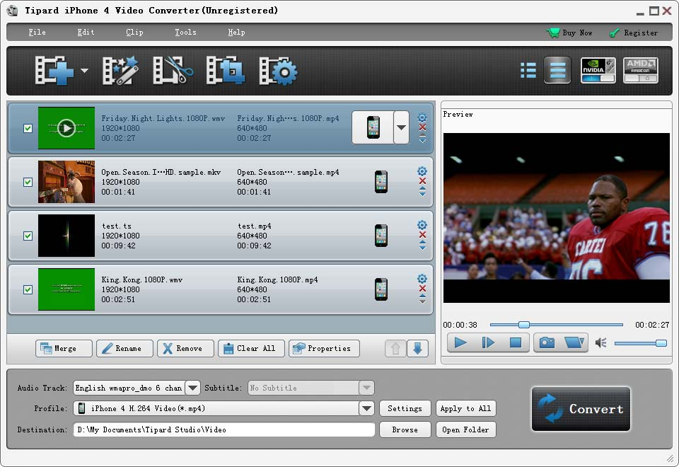 Click to view Tipard iPhone 4G Video Converter screenshots