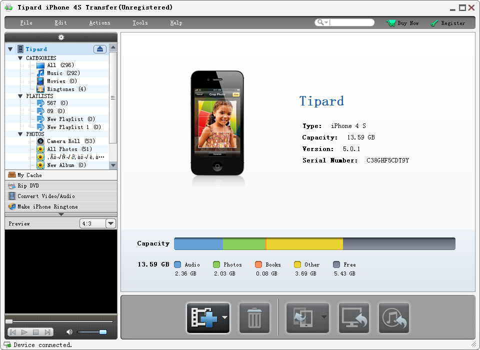 Free download Tipard iPhone 4S Transfer