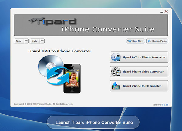Tipard iPhone Converter Suite Screen shot