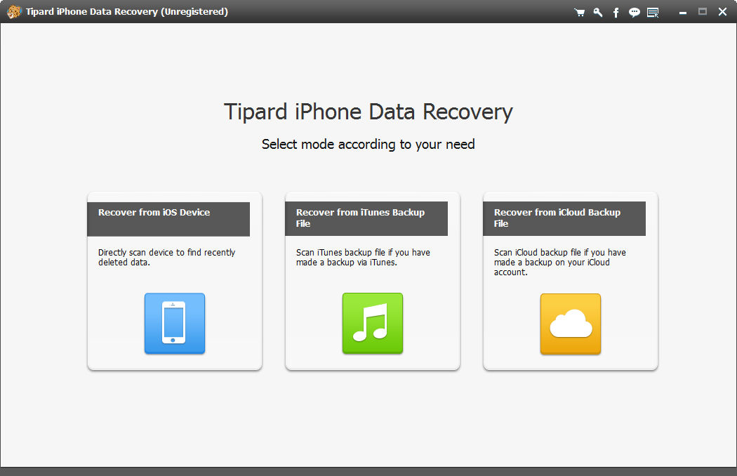 Restore lost data from iPhone/iPad/iPod.