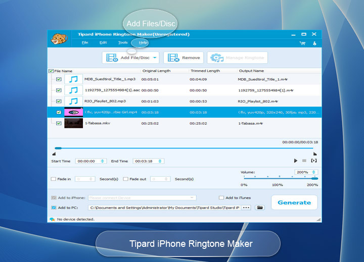 how to make itunes ringtones windows