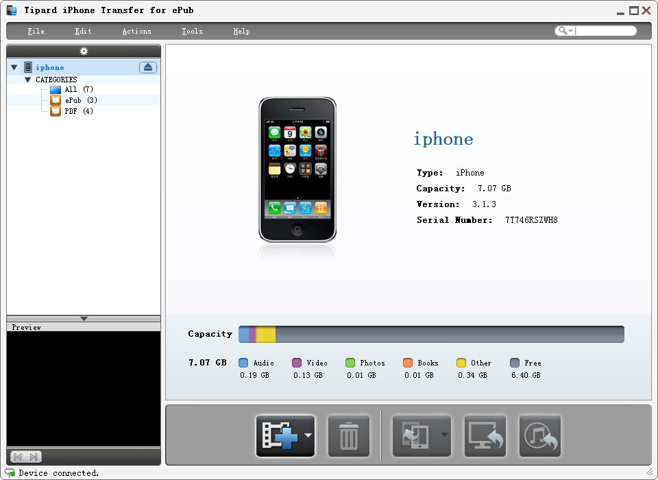 Click to view Tipard iPhone Transfer for ePub screenshots