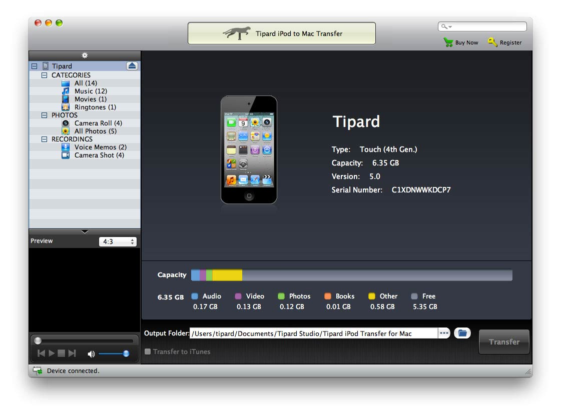 Tipard iPod to Mac Transfer