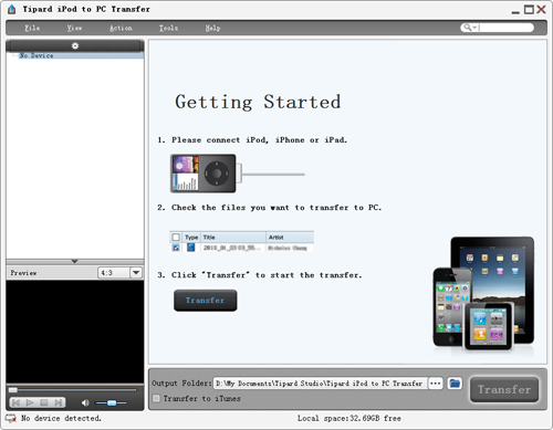 A Professional Software Pack to Rip DVD/Video to various format and transfer files for iPod Guide-initial-interface