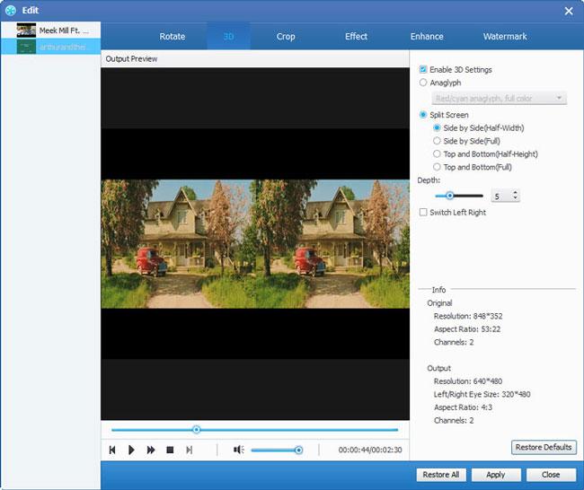Modifica video aggiunti