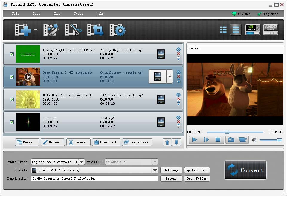 Tipard M2TS Converter Screen shot