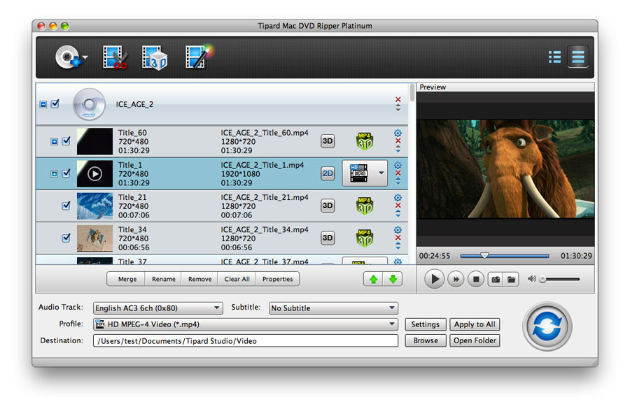 Tipard Mac DVD Ripper Platinum