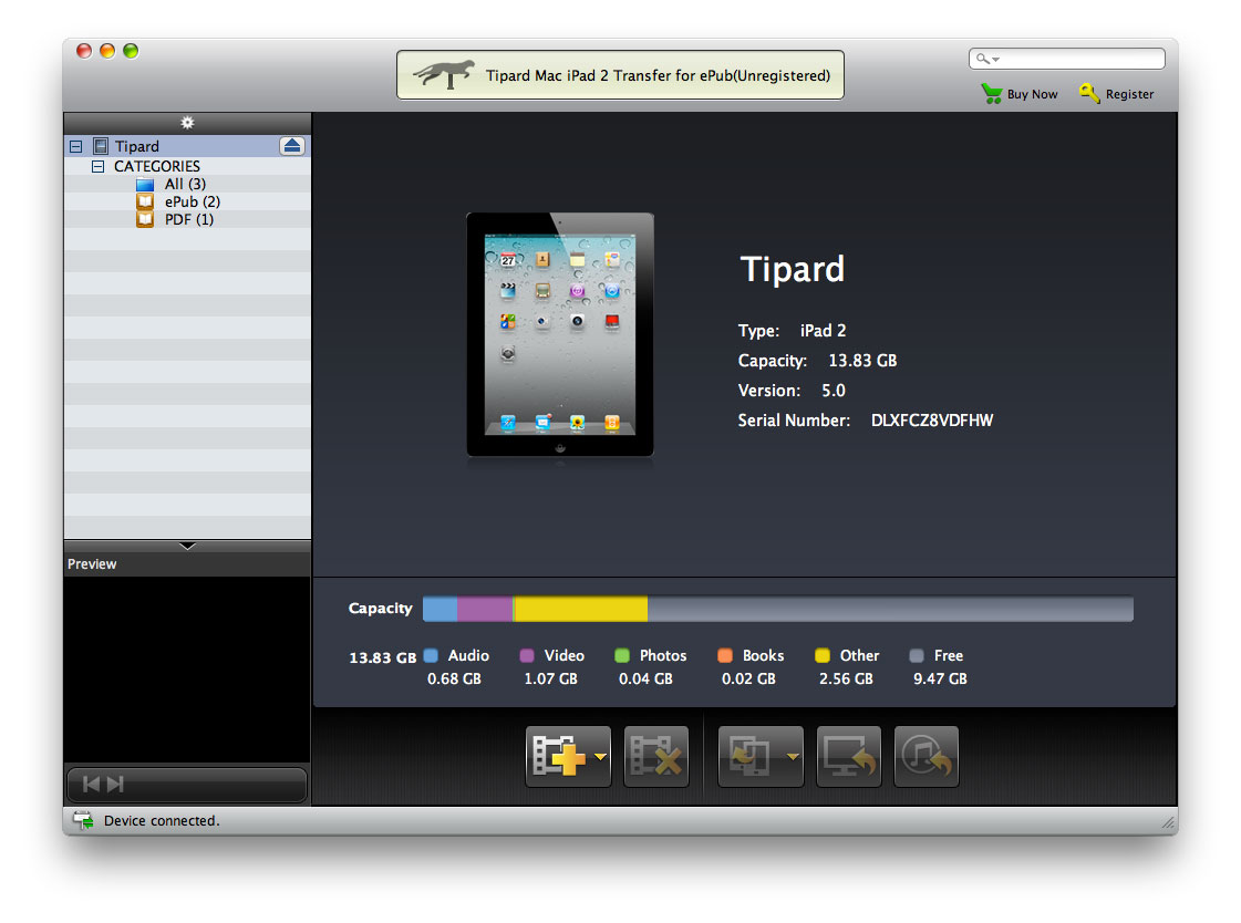 One practical iPad 2 ePub transfer for Mac.