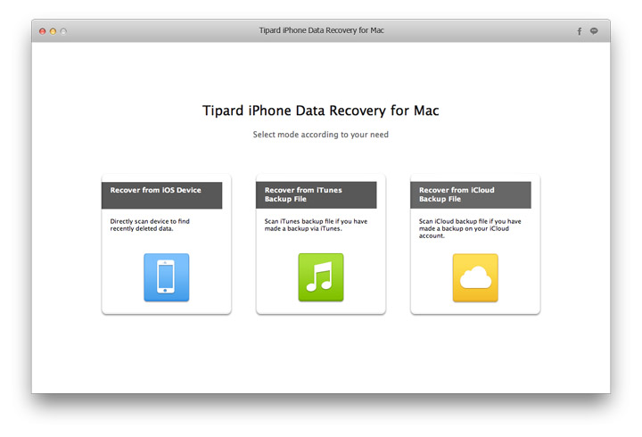 Tipard Mac iPhone Data Recovery