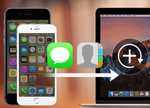 Back-up van iPhone sms en contacten op mac