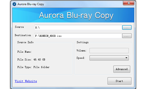 Cópia do Blu-ray de Aurora