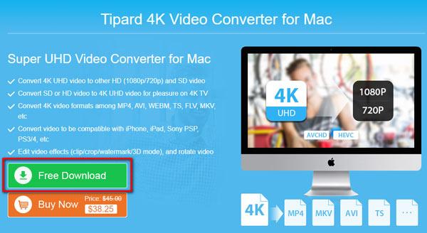 4K Video Converter til Mac Gratis download