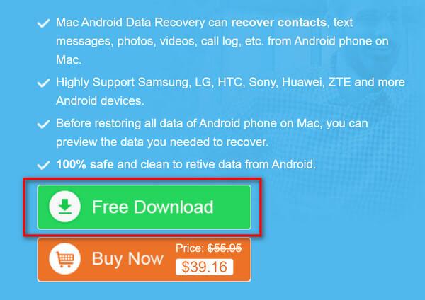Download grátis de recuperação de dados do Android para Mac para Mac