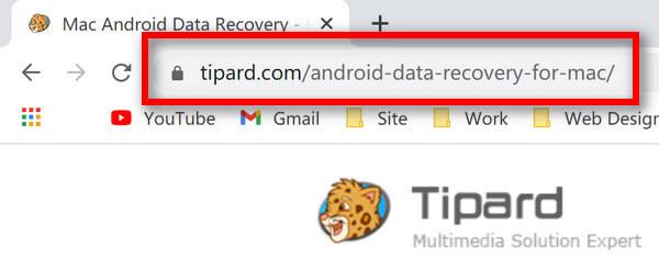 Recuperação de dados do Android para Mac para URL do Mac