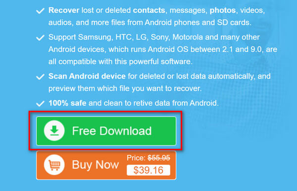 Android Data Recovery Gratis download