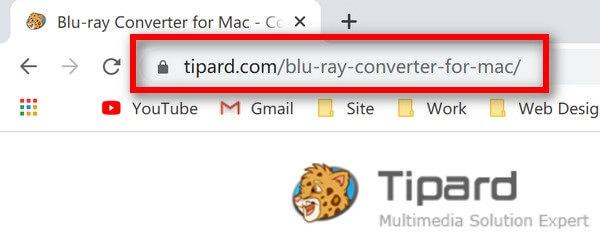 Μετατροπέας Blu-ray για διεύθυνση URL Mac