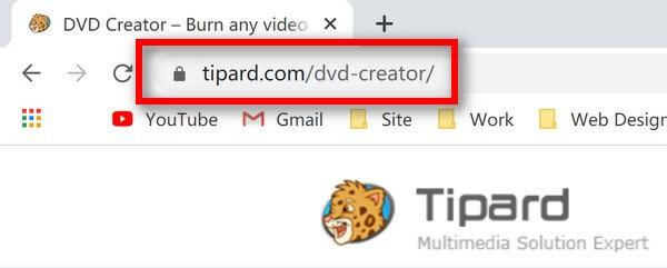 URL van dvd-maker