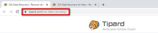 عنوان URL لاستعادة بيانات iOS