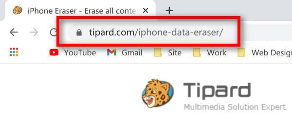 iPhone Radír URL