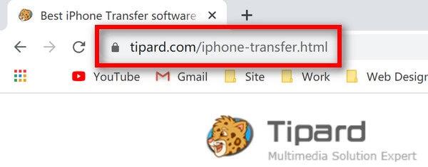 iPhone転送URL