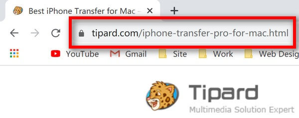 URL voor iPhone-overdracht