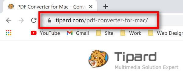 محول PDF لنظام التشغيل Mac URL