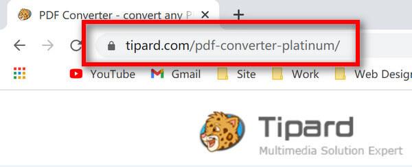 URL de PDF Converter Platinum