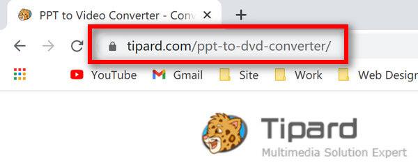 URL převaděče PPT na video