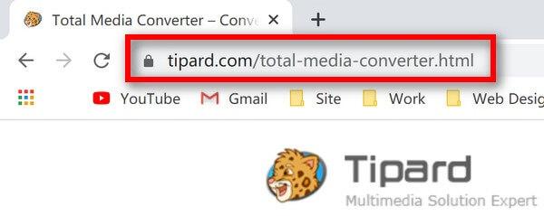 Całkowity adres URL programu Media Converter