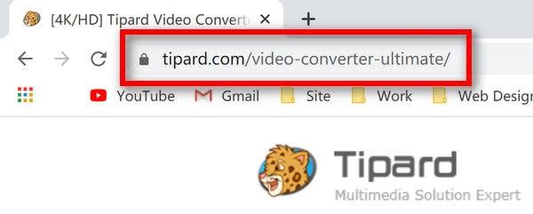 عنوان URL النهائي لمحول الفيديو