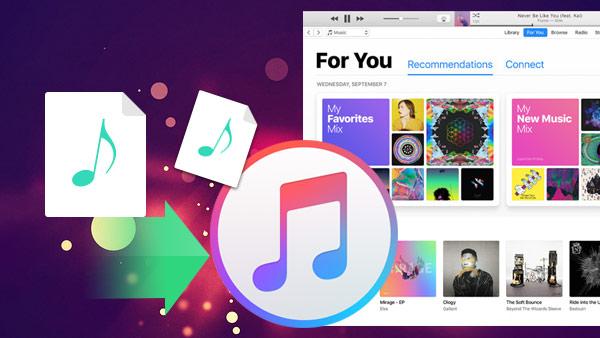 Tilføj musik til iTunes