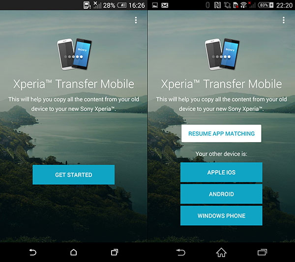 Xperia転送モバイル