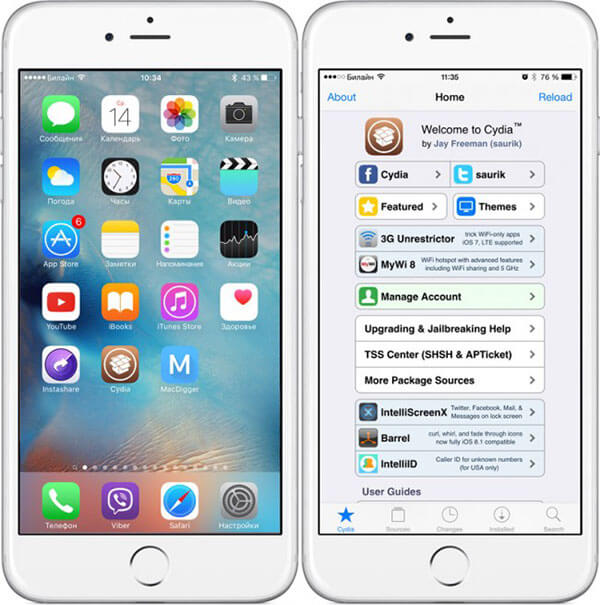 Installa AppCake su iPhone / iPad