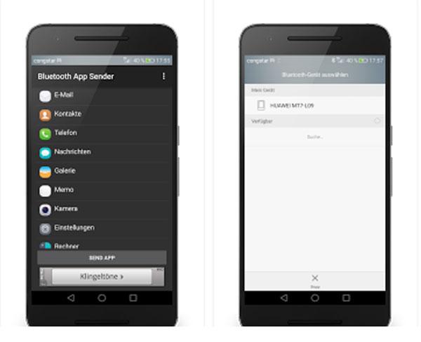 Aplikacja Sender Bluetooth