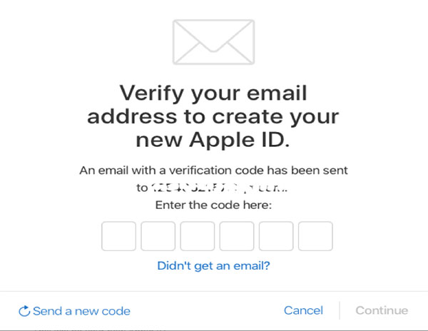 Bekræft Apple ID via e-mail