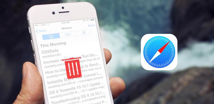 Ta bort webbhistorik på iPhone