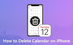 Poista kalenterit iPhonesta