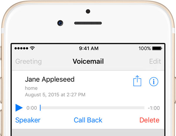 Slet voicemail